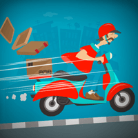 Crazy Courier Ride Online Game